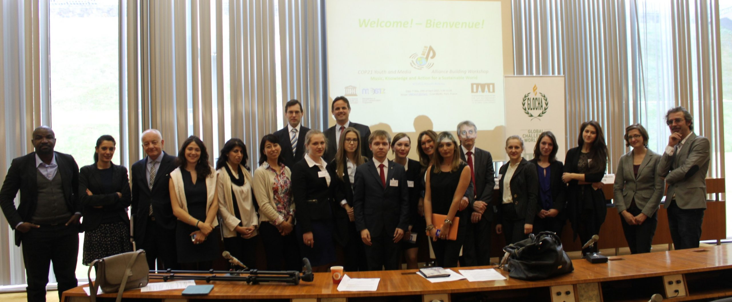 GroupPhoto Cop21 Youth Media Workshop UNESCO 24April2015