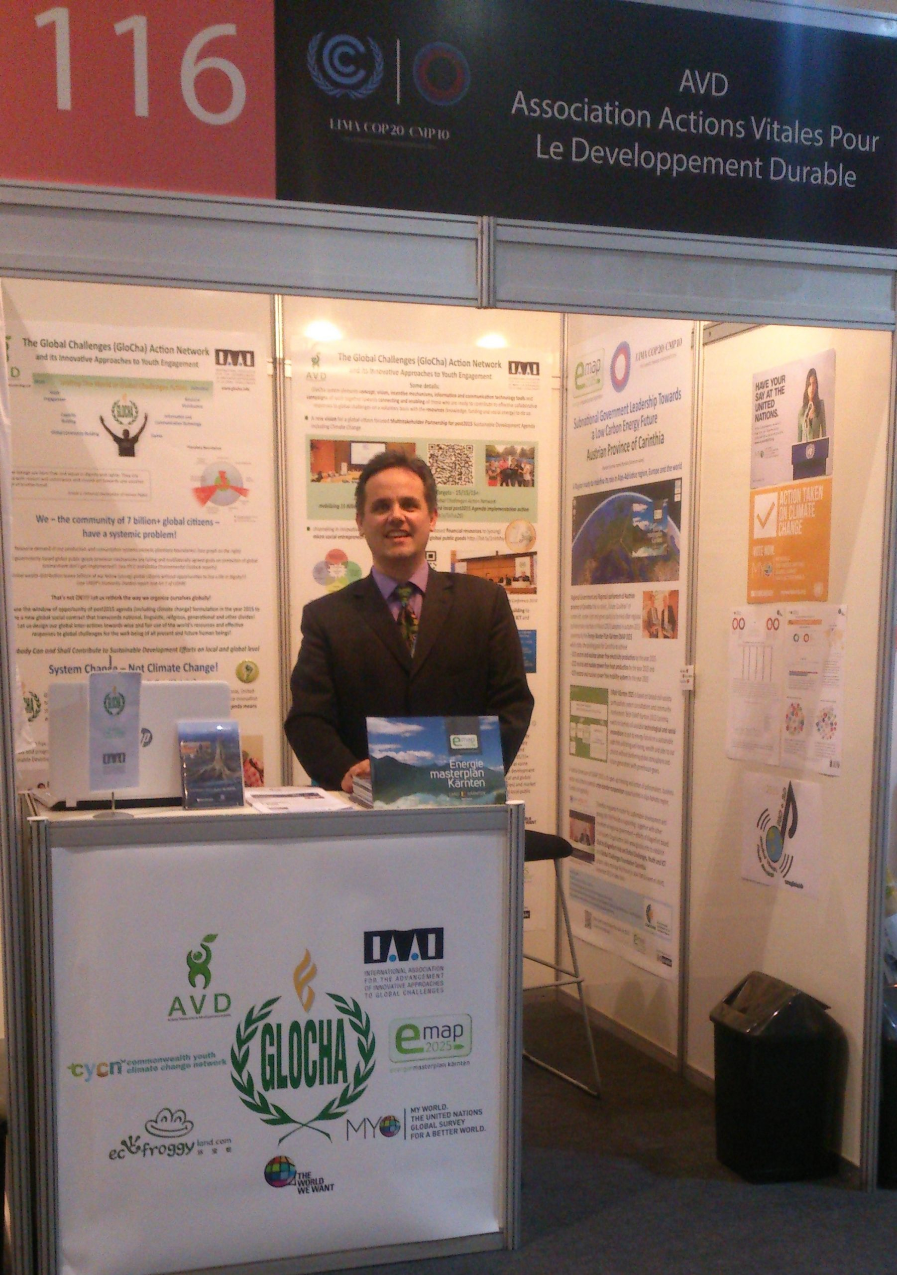Lima COP20 IAAI GloCha EMAP Stand Photo mitPolzer 2