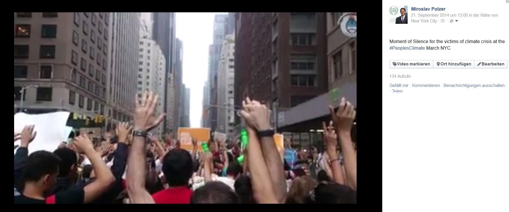 NYClimateMarchvideosilence